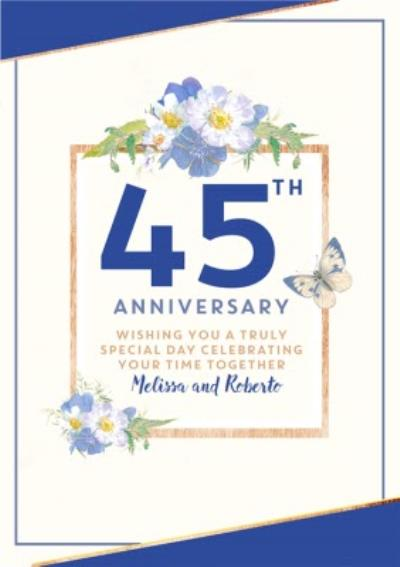 Traditional 45th Anniversary card, Wishing you a truly Special Day