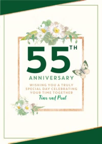 Traditional 55th Anniversary card, Wishing you a truly Special Day