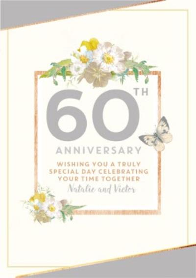 Traditional 60th Anniversary card, Wishing you a truly Special Day