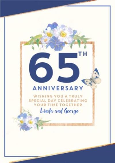 Traditional 65th Anniversary card, Wishing you a truly Special Day