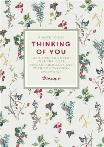 Traditional and Sentimental Christmas Thinking of You Card