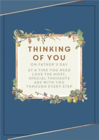 Traditional Thinking Of You On Father's Day Card