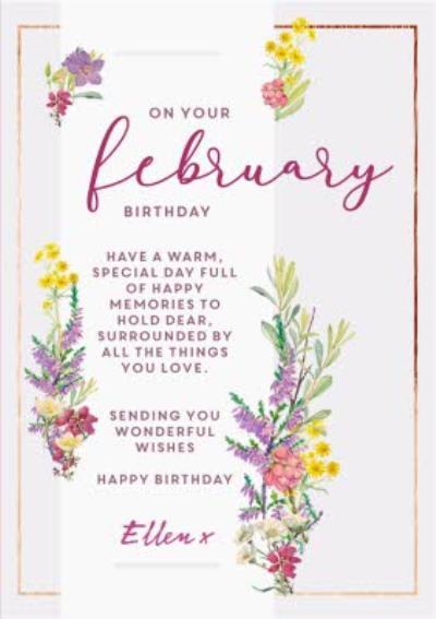 Edwardian Lady On Your February Birthday Card