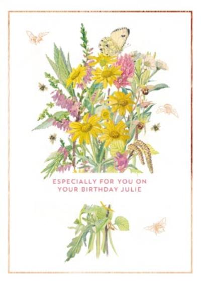 Edwardian Lady Floral Especially For You On Your Birthday Card