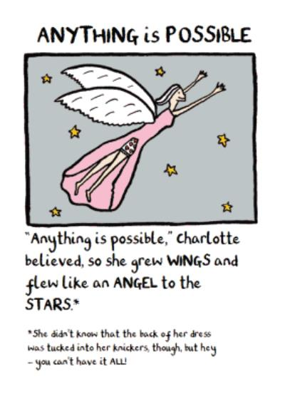 Angel Birthday Card - Edward Monkton