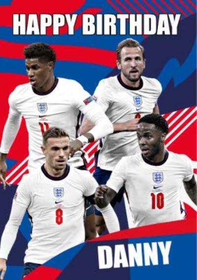 Danilo England Happy Birthday Team Players Card