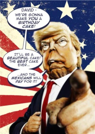 Spitting Image Donald Trump We Are Gonna Make You A Birthday Cake