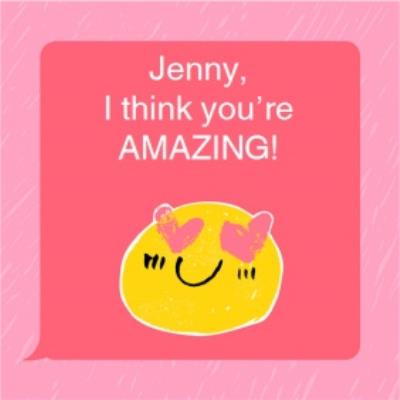 Valentine's Day card - emoji