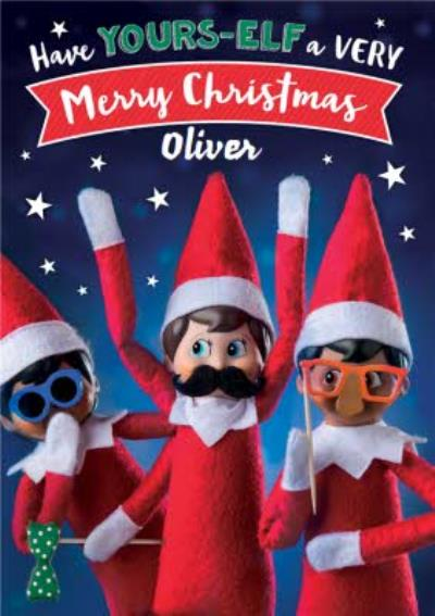 Elf On The Shelf Your-Elf a Merry Christmas Card