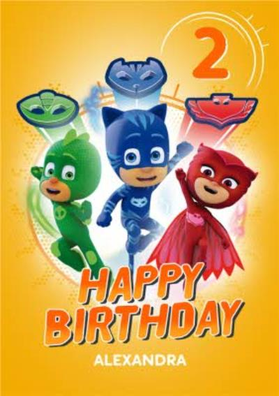 PJ Masks 2 Today Birthday Card