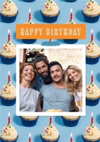 Happy Birthday Cupcakes Photo Upload Birthday Card