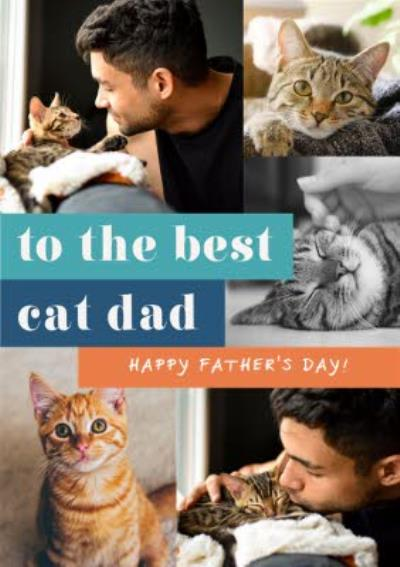Euphoria To The Best Cat Dad Photo Upload Father's Day Card