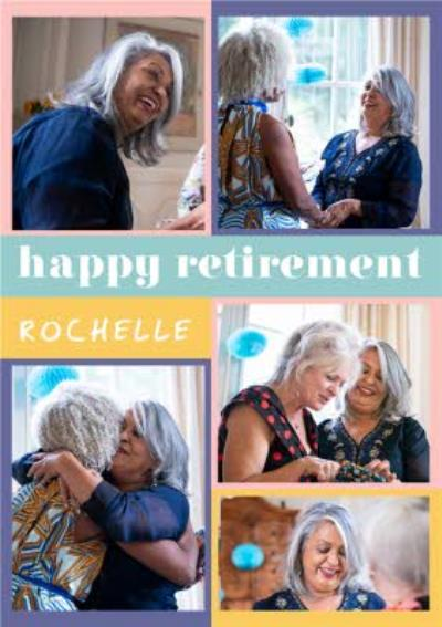Euphoria Happy Retirement Personalised Photo Upload Card
