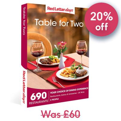Table for Two Gift Experience