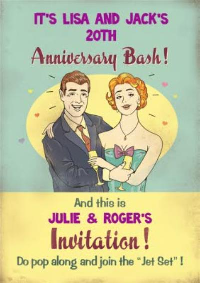 Vintage Join The Jet-Set Personalised Event Invitation