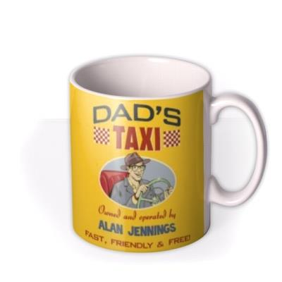 Dad's Taxi Personalised Name and Photo Mug