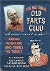 Vintage The National Old Farts Club Personalised Photo Upload Happy Birthday Card