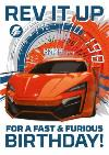 Fast And Furious Rev It Up Birthday Card