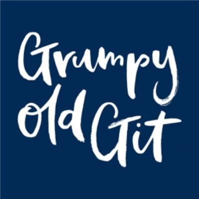 Navy Blue Grumpy Old Git Card