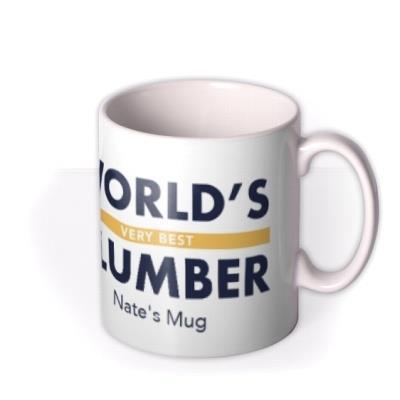 Worlds Best Job Plumber Birthday Mug