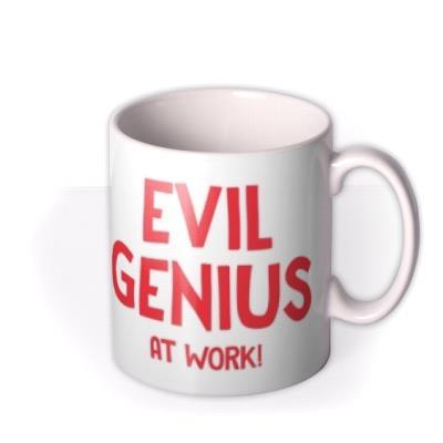 Evil Genius At Work Birthday Mug