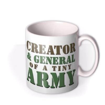 General of A Tiny Army Typographic Mug