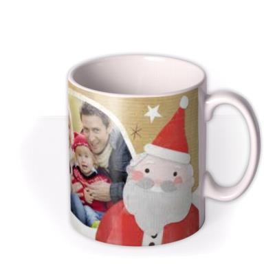 Merry Christmas Family Photo Upload Mug