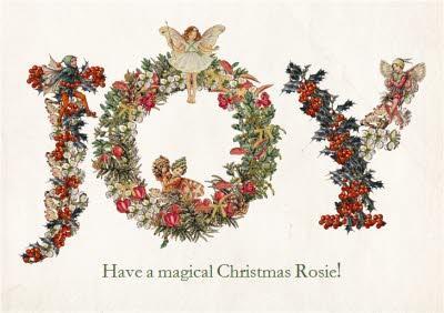 Angelice Wreath Joy Personalised Christmas Card
