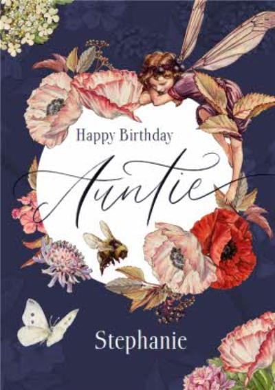 Flower Fairies Auntie Birthday Card