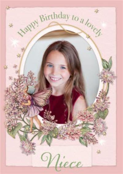 Flower Fairies Lovely Niece Photo Upload Birthday Card