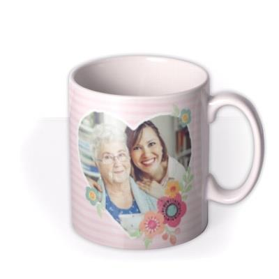 Pink Stripes And Flowers With Love Mug