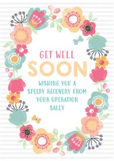 Personalised Get Well Soon After Your Operation Card