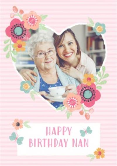Birthday Card - Happy Birthday - Nan - Photo Upload