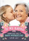 Happy Mother's Day to my Nanna Banner Photo Card