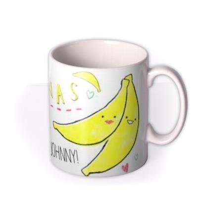 Valentine's Day Bananas Personalised Mug