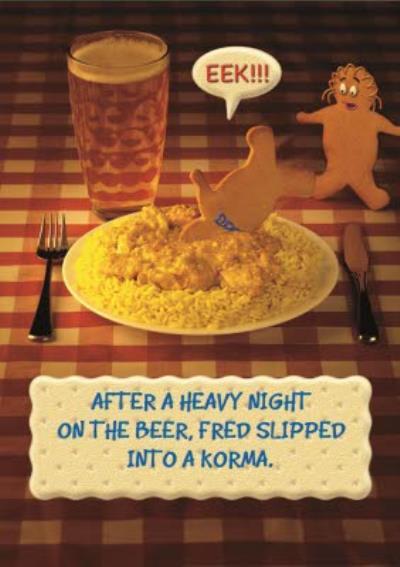 Funny Birthday Card - Curry Card