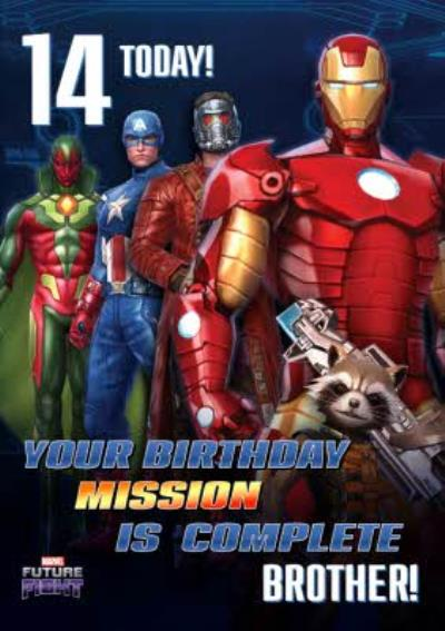 Marvel Future Fight 14 Today Gaming Birthday Card