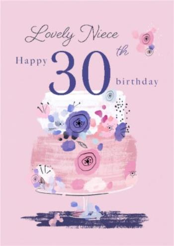 Prime Lovely Niece Birthday Cake Happy 30Th Birthday Card Moonpig Personalised Birthday Cards Paralily Jamesorg