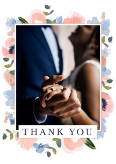 Flora Photo Upload Wedding Thank You Card