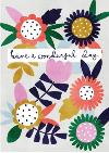 Have a wonderful day floral illustration card