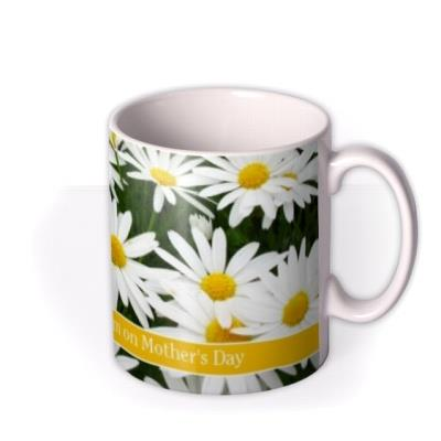 Daisies Print Personalised Text Mug