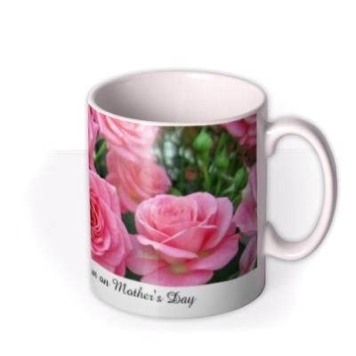Roses Photograph Print Personalised Text Mug