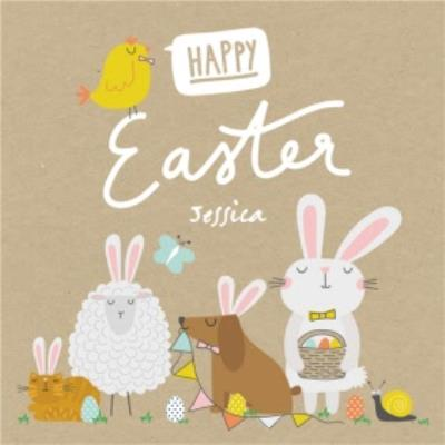 Funimals Happy Easter Bunny Ears Card