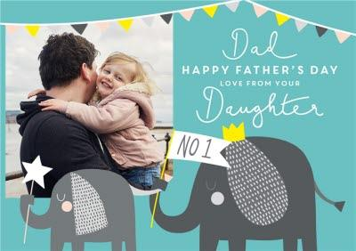 Cute Jungle First Father's Day Photo Card