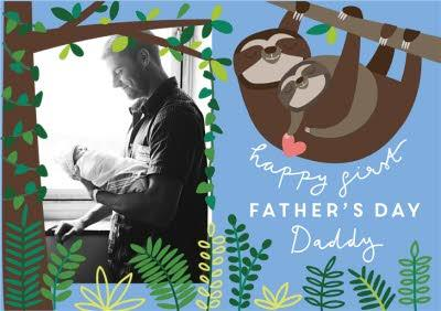 Cheeky Little Monkey Father's Day Photo Card