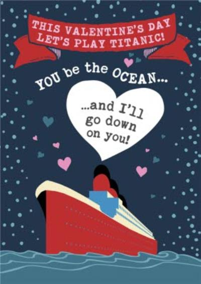 Funny Rude Titanic Going Down Valentine's Day Card