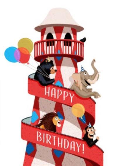 Folio Animals at Circus Happy Birthday Card