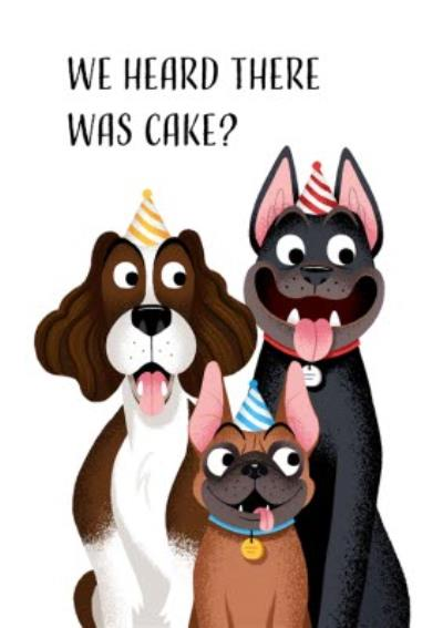 Folio We heard there was cake Dogs Birthday Card