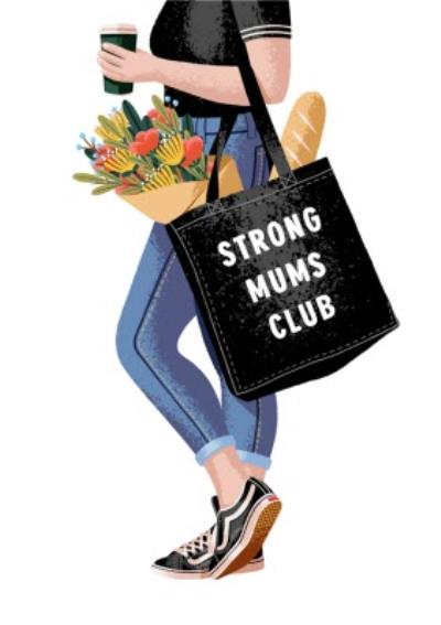 Folio Strong mums club Mothers Day Card