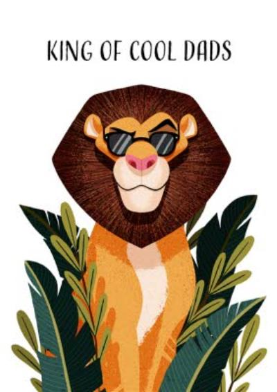 Folio King of cool Dads Lion Fathers Day Card